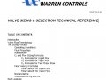 VALVE SIZING & SELECTION TECHNICAL REFERENCE
