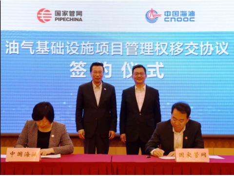 国家管网大动作!接收中国海油油气基础设施项目管理权!