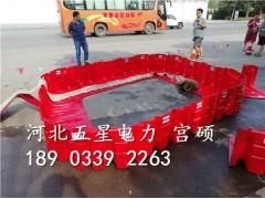 一人即可安装使用组合式挡水板省时省力红色塑料挡水板