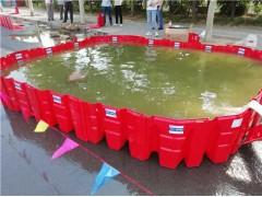 地下停车场防洪板厂家 L型防洪挡水板组合式红色塑料挡水板