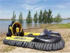一款陆地水上通用的霸王龙气垫船水陆两栖自由畅行