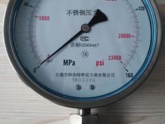 不锈钢耐震压力表型号规格,量程,精度,安装螺纹